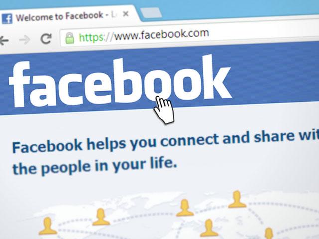 フェイスブックのモニター画面
